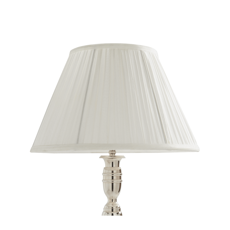 Pleated Lamp Shade in White 14