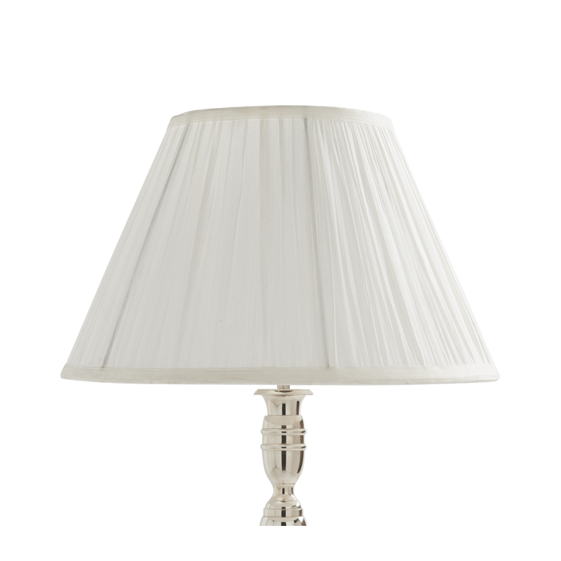 """Pleated Lamp Shade in White 16"""""""