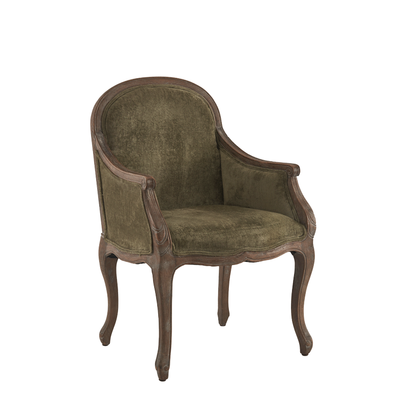 Berg Armchair Oak with Taupe