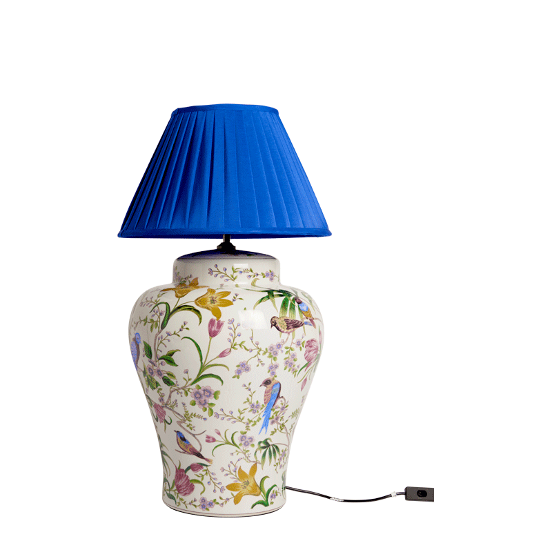 Bird Lamp in Blue