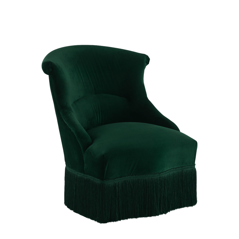 Boudoir Armchair in Emerald Green
