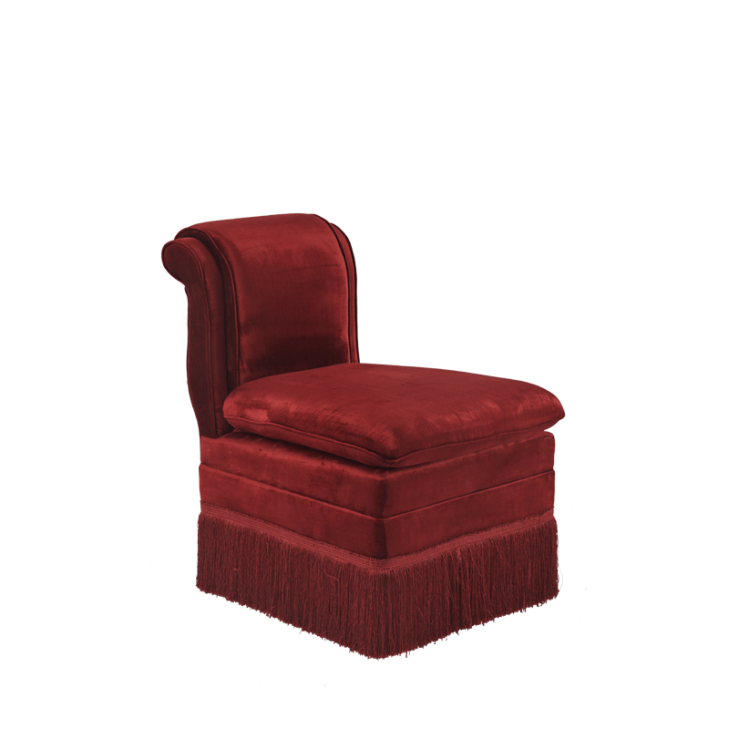 Boudoir Chair in Red Velvet