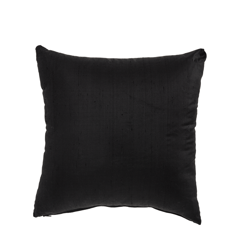 Black Silk Cushion