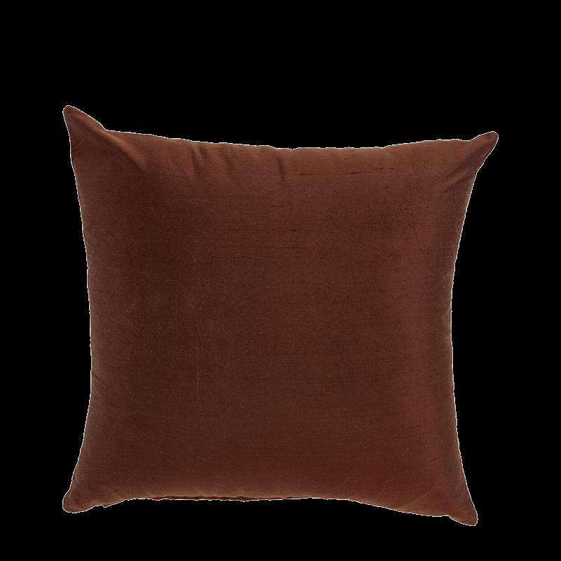 Brown Silk Cushion