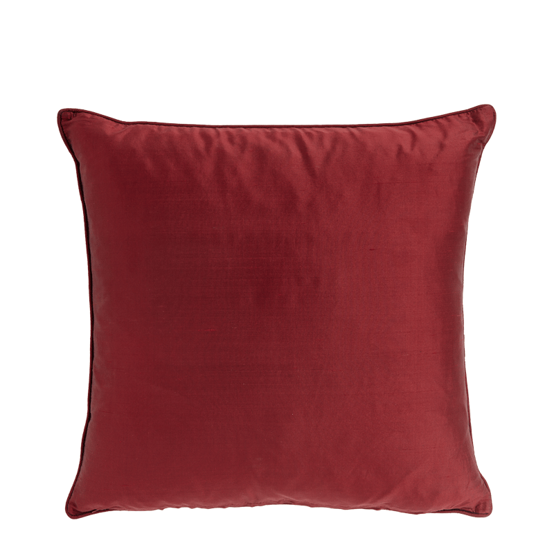 Bordeau Satin Cushion with Piped Edges
