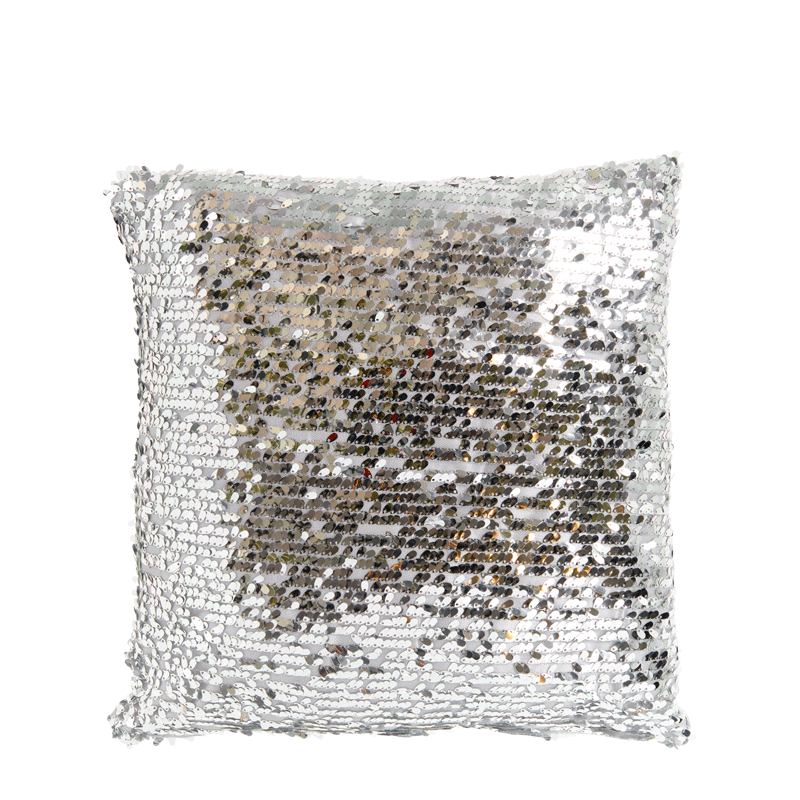Cushion with Silver Sequins