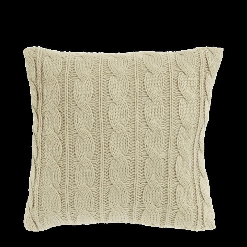 Ivory Knit Cushion