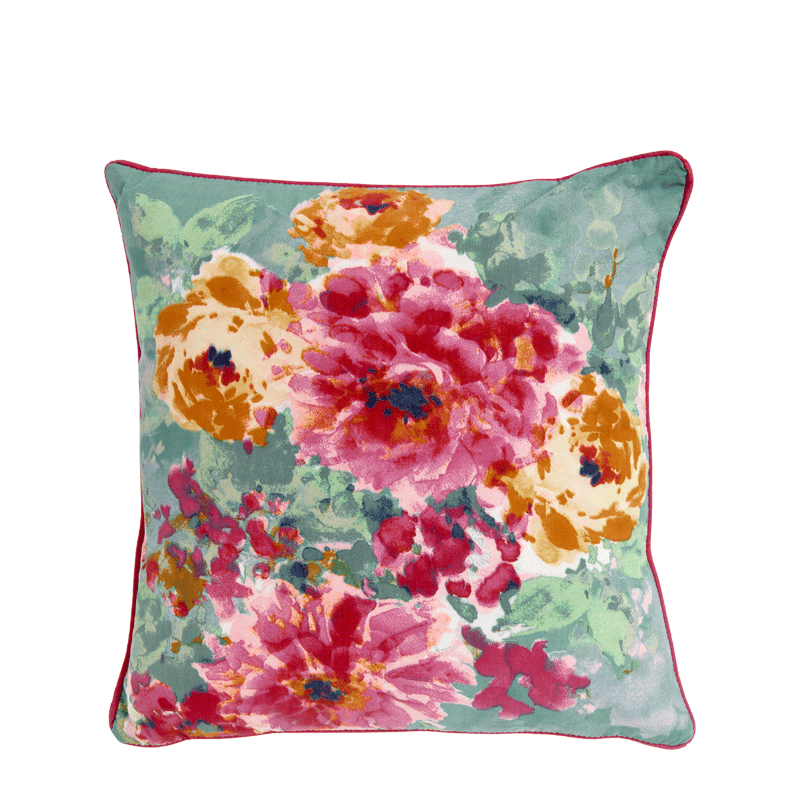 Cushion with Spring Floral Print