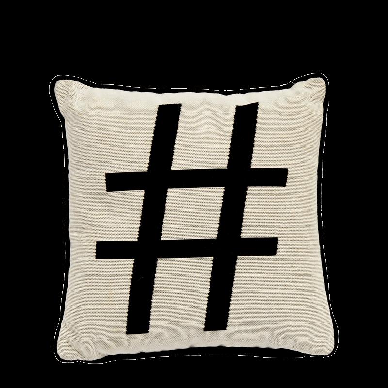 Cushion with Hashtag Print