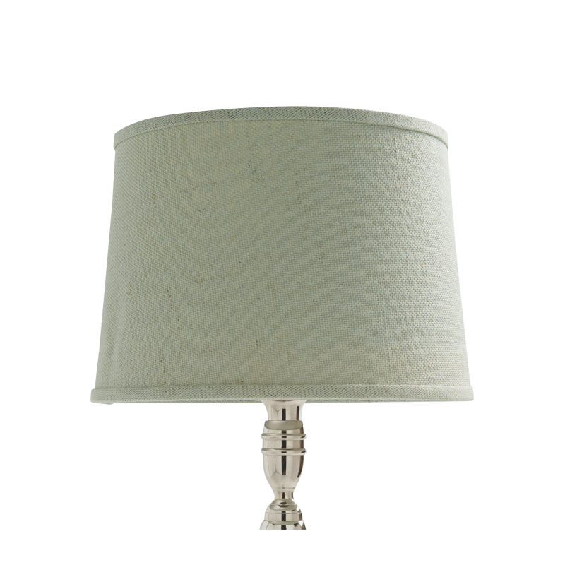 Drum Lamp Shade in Aqua Linen 14""