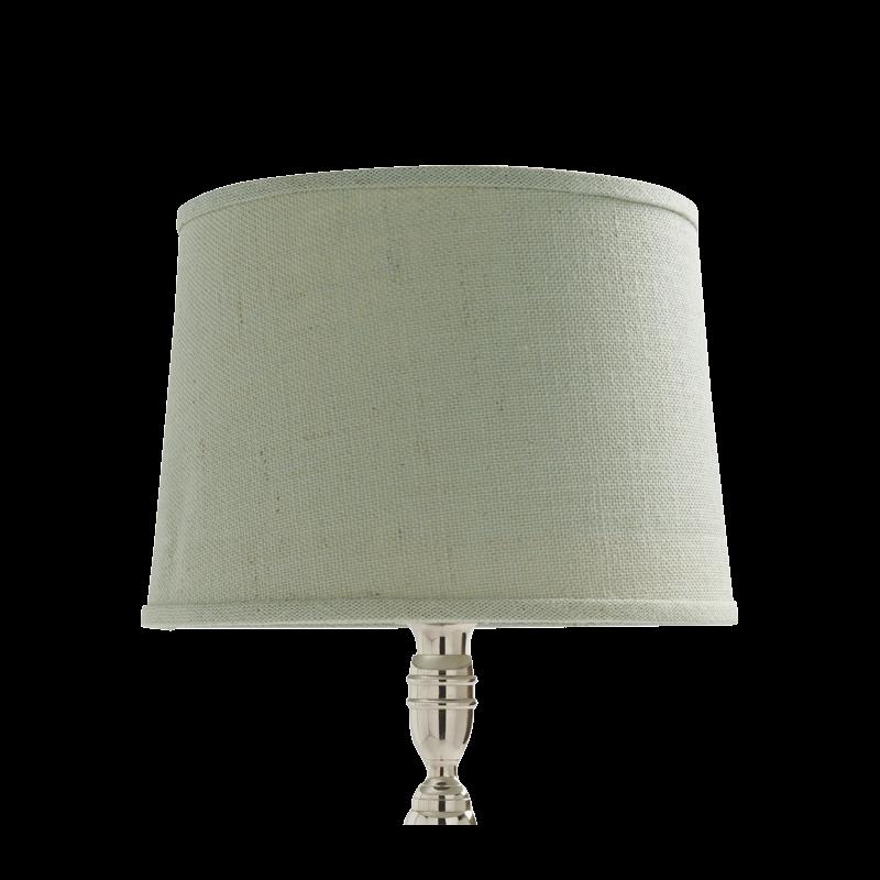 Drum Lamp Shade in Aqua Linen 14