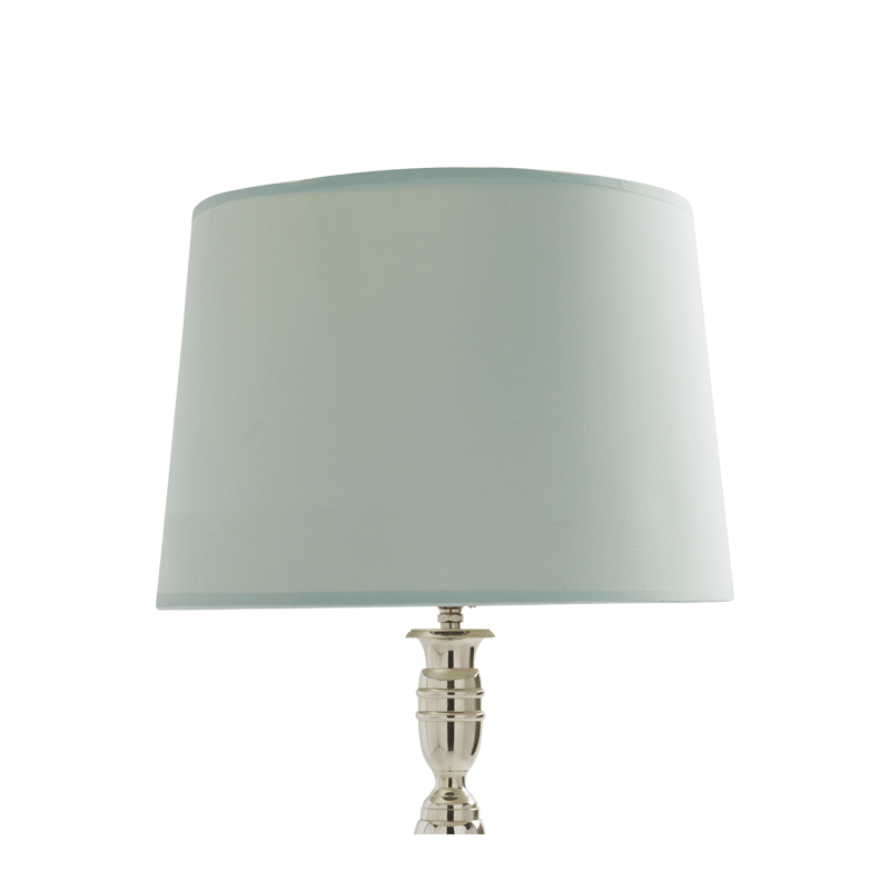 Drum Lamp Shade in Aqua Silk 14""