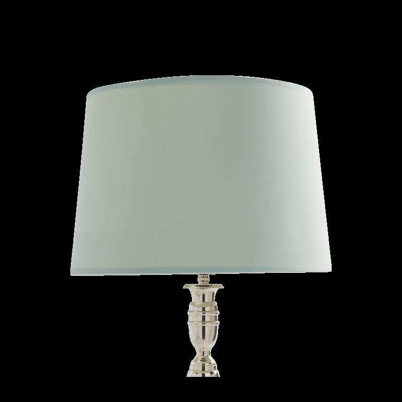 "Drum Lamp Shade in Aqua Silk 14"""