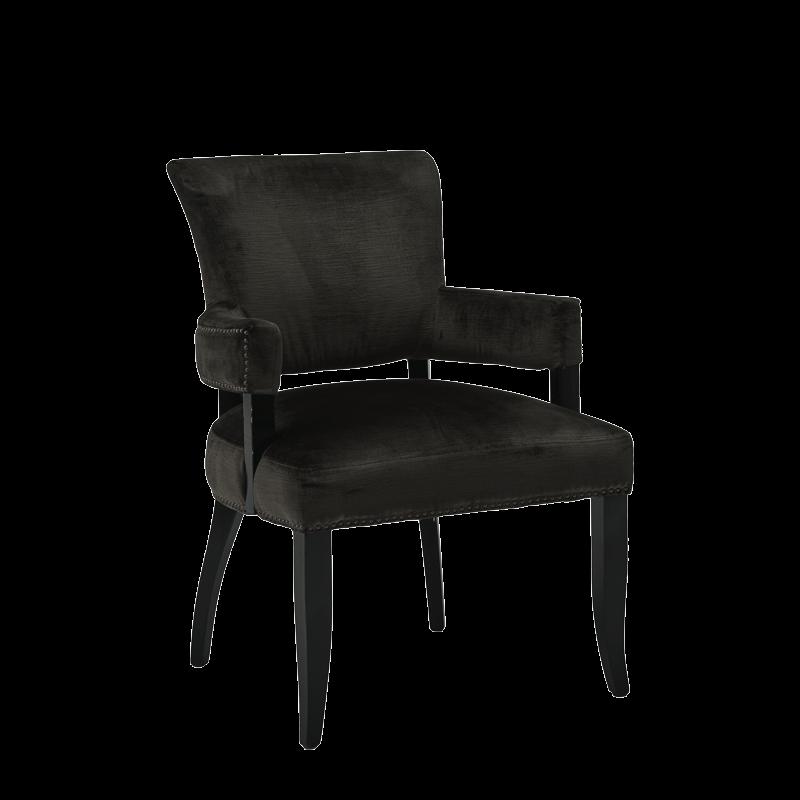 Lexi Armchair in Grey velvet