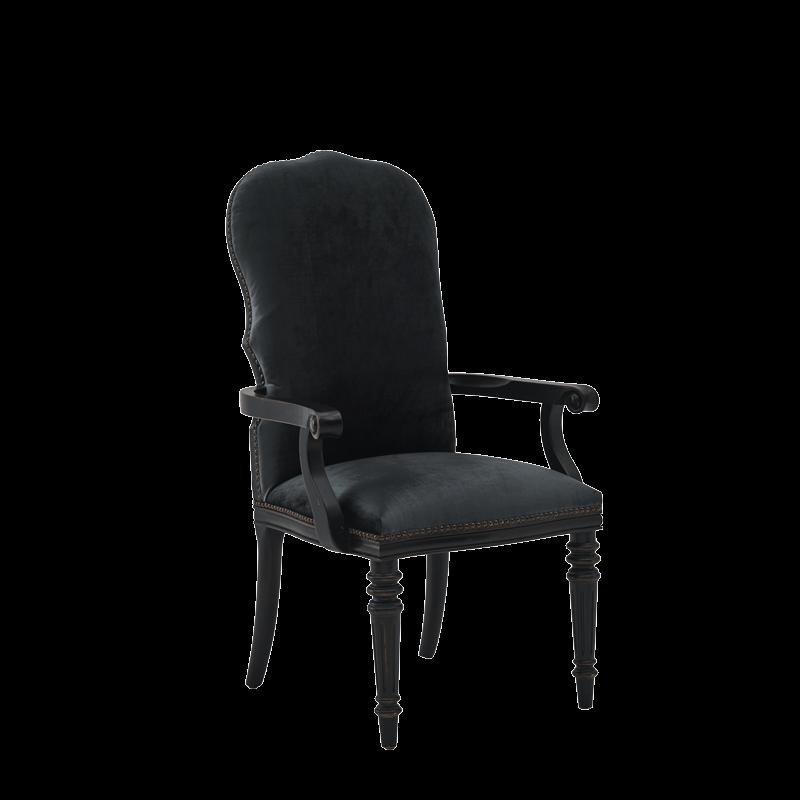 Lindy Armchair in Blue-Grey Velvet