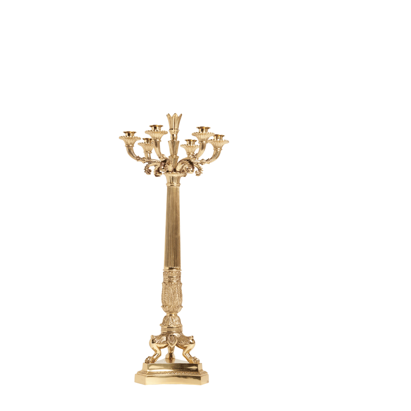 Luminaire 7 Arms Candelabra in Gold