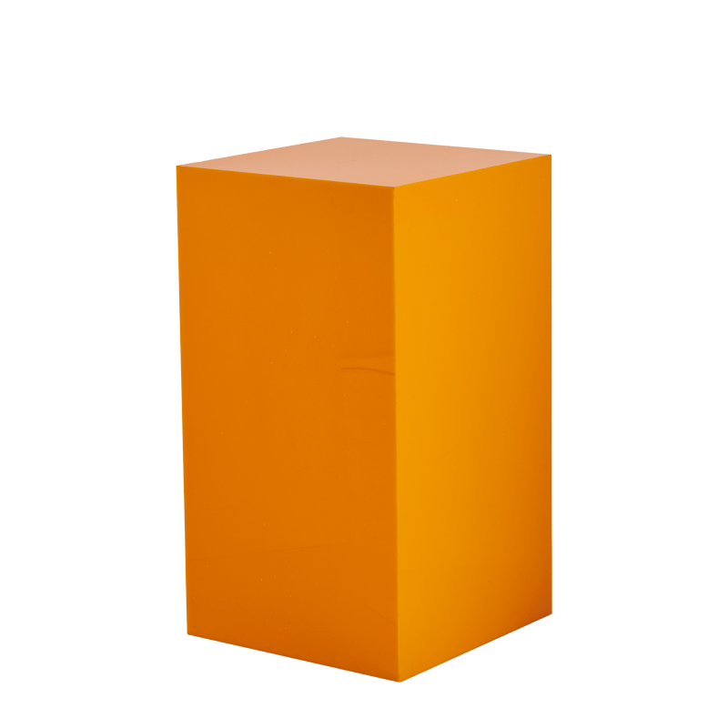 "Seattle Plinth in Orange L 20"" x W 20"" x H 35"""