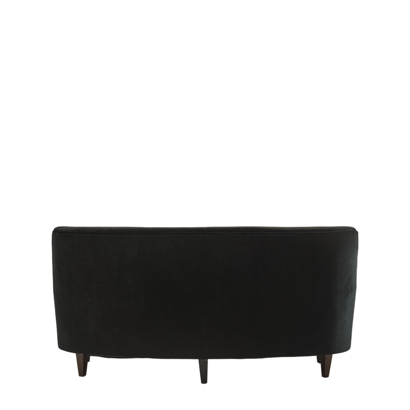 St. Regis Sofa in Black Velvet