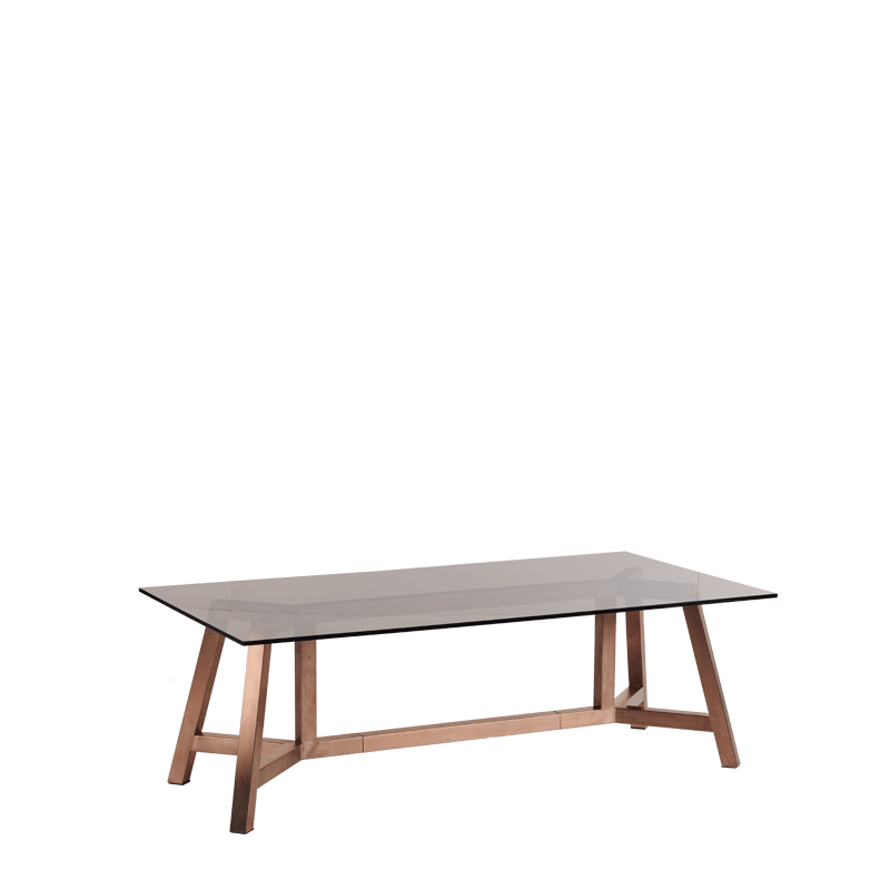 Washington Rectangular Coffee Table in Rose Gold