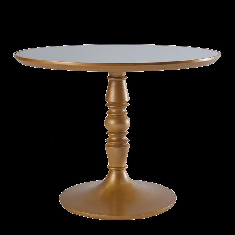 Baroque Café Table in Gold