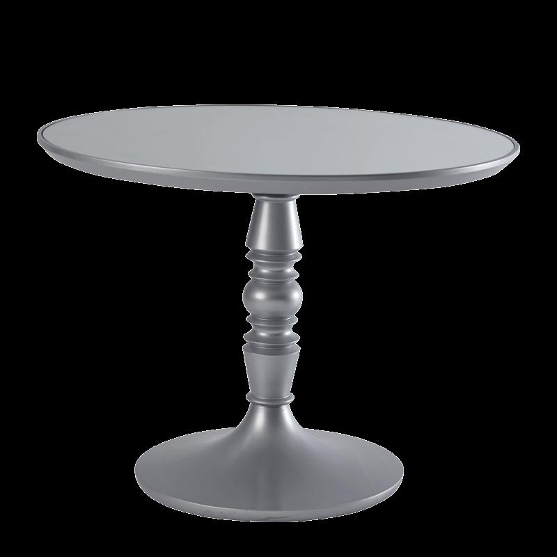 Baroque Café Table in Silver