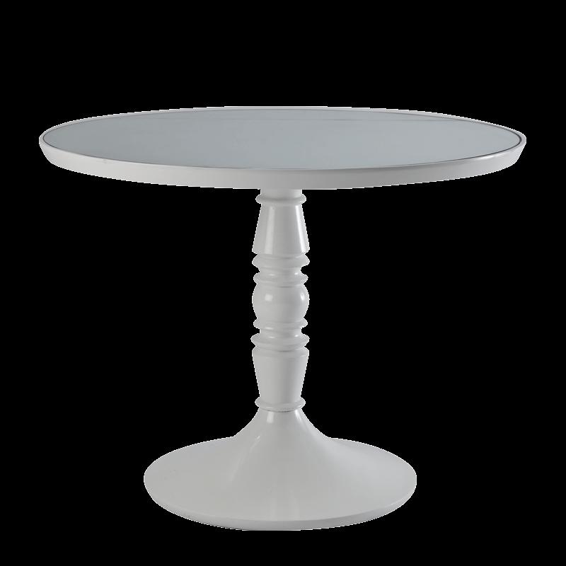 Baroque Café Table in White