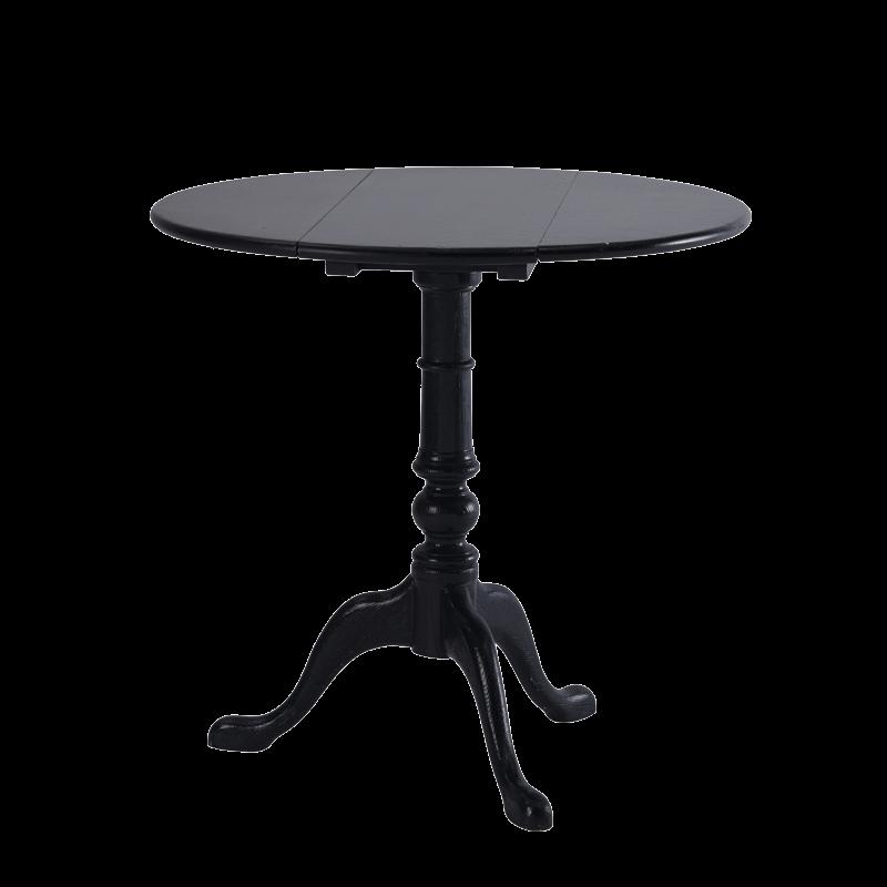 Round Bistro Café Table in Black