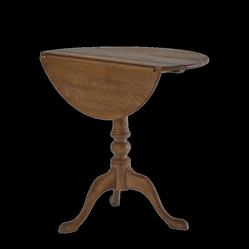 Round Bistro Café Table in Oak
