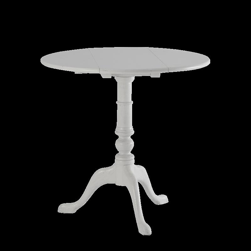Round Bistro Café Table in White