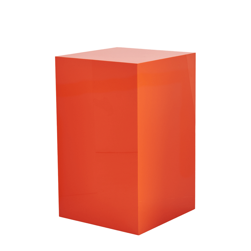 "Seattle Plinth in Orange L 24"" x W 24"" x H 40"""