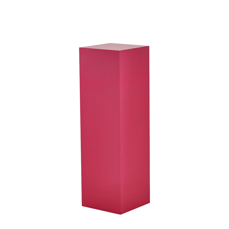 "Seattle Plinth in Pink L 12"" x W 12"" x H 40"""