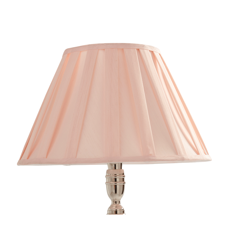Stripes Lamp Shade Pleated in Pink 16""