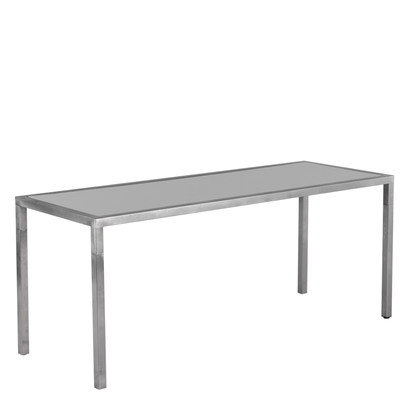 Unico Rectangular Dining Table - Steel Frame - White Top