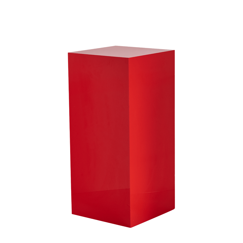 "Seattle Plinth in Red L 18"" x W 18"" x H 40"""