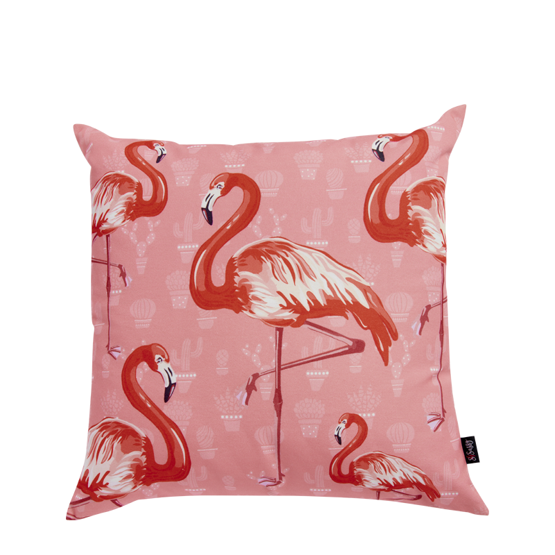 Pink Flamingos Cushion