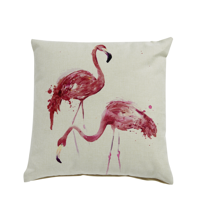White Flamingos Cushion