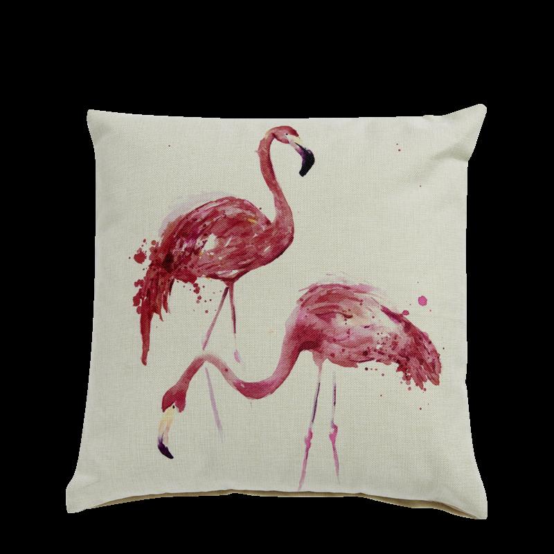 White Flamingos Cushion