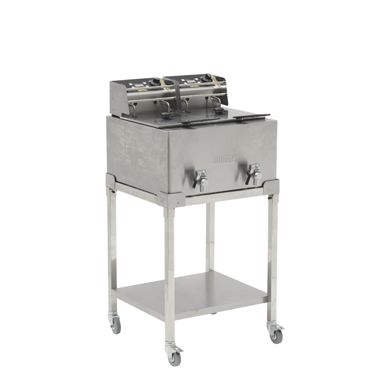 Electric double deep fat fryer