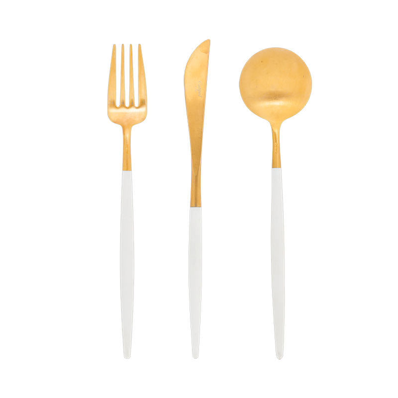 Cutipol white and gold Cutlery
