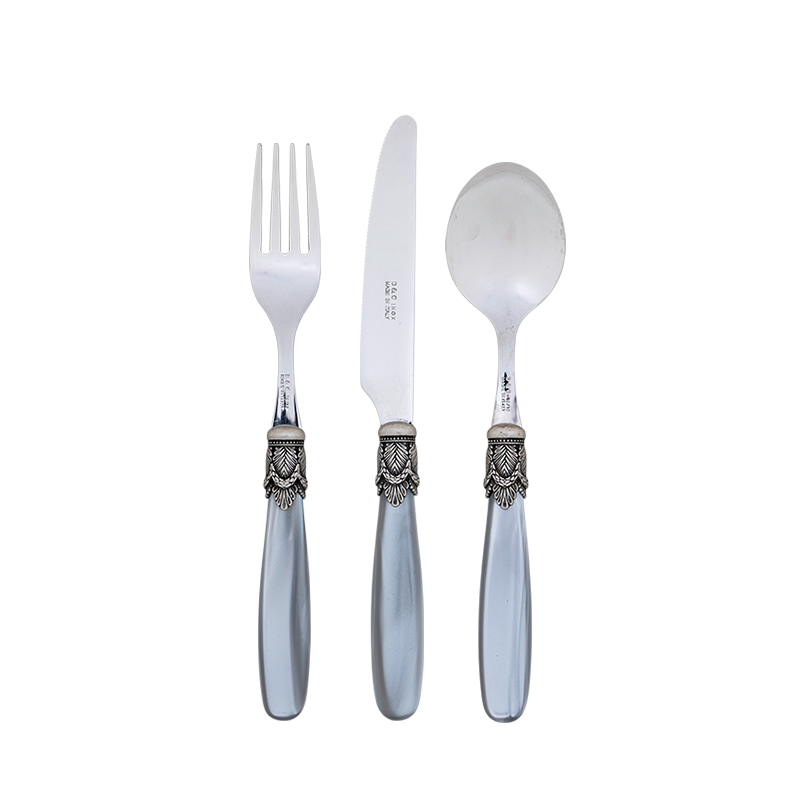 Grey and Silver Mother of Pearl Cutlery