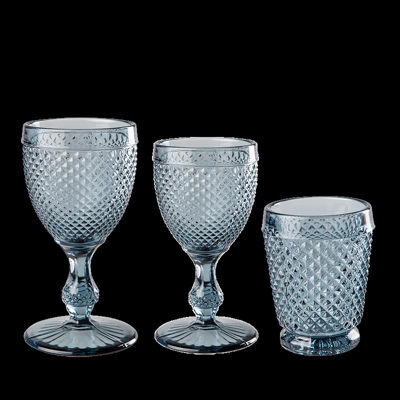 Blue grey Tourmaline glass