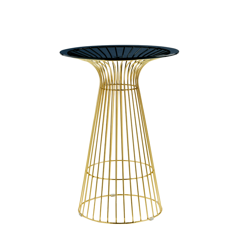 Gianni Café Table in Gold