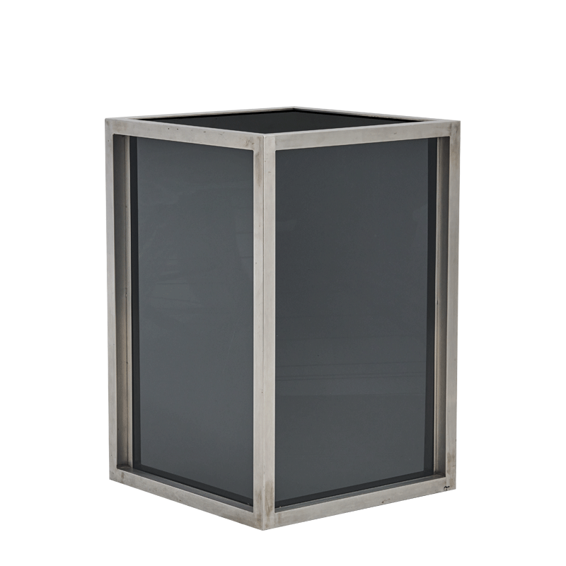 Unico Square Bar Unit with Stainless Steel Frame