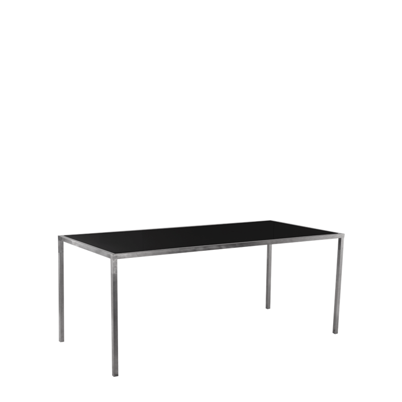 "Unico 8""x4"" Poseur Table with Stainless Steel Frame"