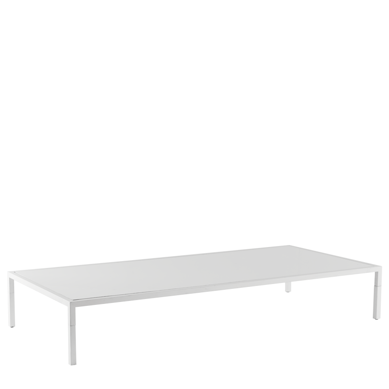 "Unico 8""x4"" Coffee Table with White Frame"
