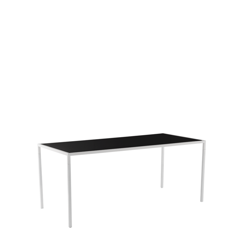 "Unico 8""x4"" Poseur Table with White Frame"