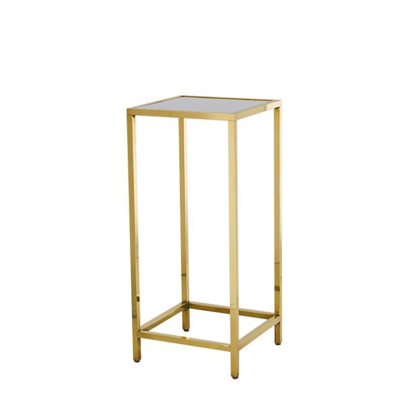 Unico Square Poseur Table with Gold Frame
