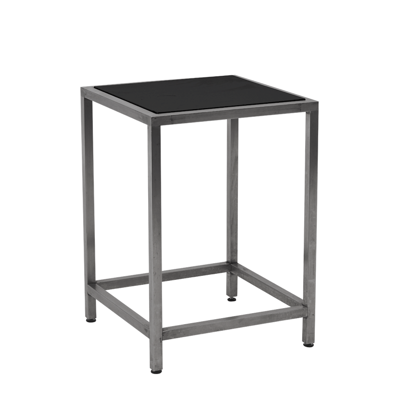 Unico Square Occasional Table with Stainless Steel Frame