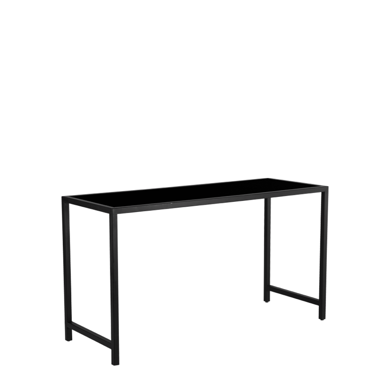 Unico Rectangular Poseur Table with Black Frame