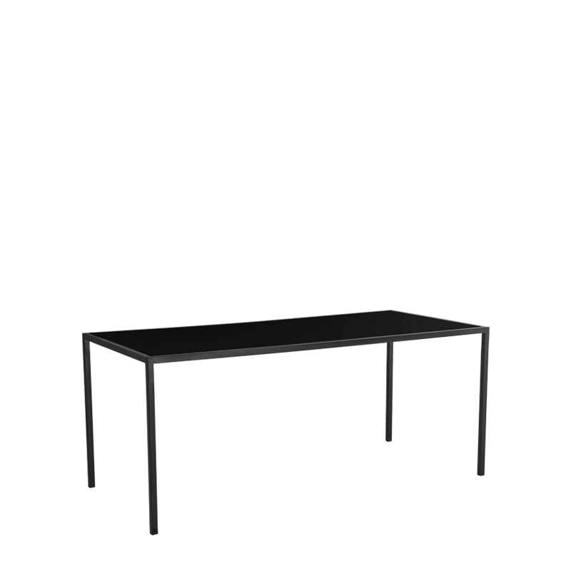 "Unico 8""x4"" Poseur Table with Black Frame"